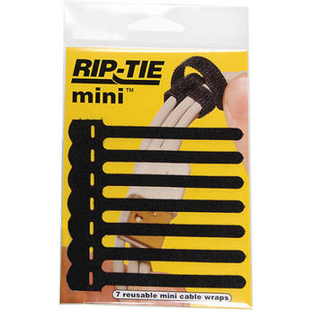 "Rip-Tie 3.5"" Mini Cable Wraps (Black, 7-Pack)"