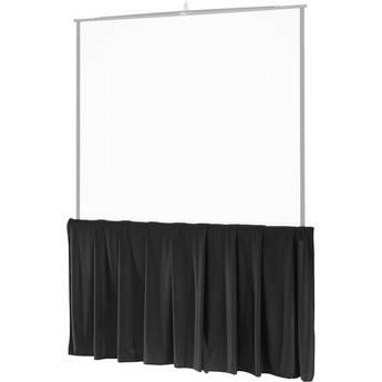 """Da-Lite 38296 Black Tripod Skirt (50"""")"""