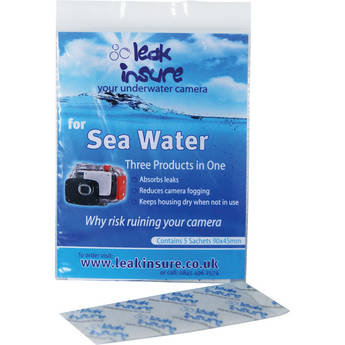 Leak Insure Protective Absorbent Sachets for Underwater Housings in Sea Water (5-Pack)