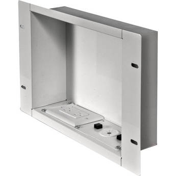 Peerless-AV In-Wall Cable Management and Storage Box with Surge-Protected Duplex Receptacle (White)