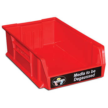 """Garner Red """"Media to be Degaussed"""" Bin for HD-3WXL"""