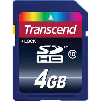 TRANSCEND TS4GUSDHC4 4GB MICROSDHC Card Class 4-SD 2.0