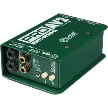 Radial Engineering ProAV2 Passive Stereo Multimedia Direct Box