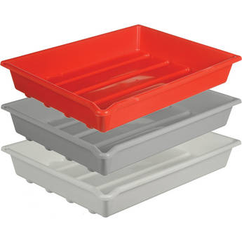 "Paterson Plastic Developing Trays - 12x16"" (Set of 3 One of Each Color)"
