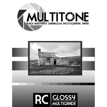 "MultiTone Black & White RC Paper (Glossy, 5 x 7"", 25 Sheets)"