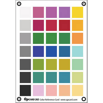 QP Card QP Color Reference Card 202