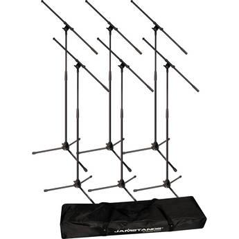Ultimate Support JamStands JS-MCFB6PK 6-Pack Tripod Mic Stand Bundle