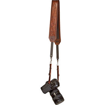 Heavy Leather NYC Classic Leather Camera Strap (Vintage Brown)