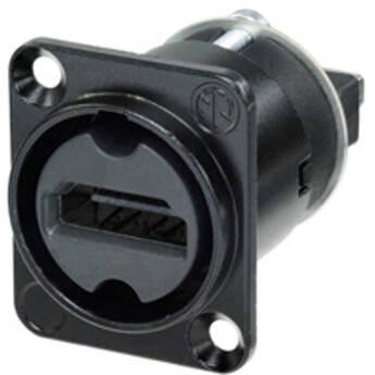 Neutrik HDMI 1.3 Feed Through Adapter D-Shape Housing IP65 (Black Chromium)
