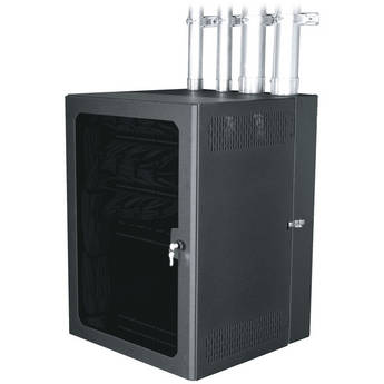 """Middle Atlantic CableSafe Cabling Wall Mount Rack with Plexi Door (20"""" Usable Depth, 26 RU)"""