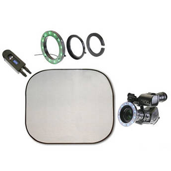 Reflecmedia RM 2123DS 4.0 x 4.0' Chromaflex EL Bundle with Small Dual LiteRing and Controller