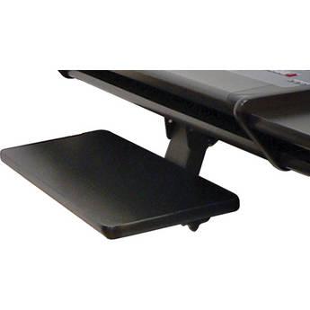 Omnirax KMSOM-B Adjustable Keyboard / Mouse Shelf for OmniDesk (Black Melamine)