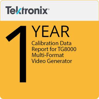 Tektronix Calibration Data Report for TG800 Multi-format Video Generator