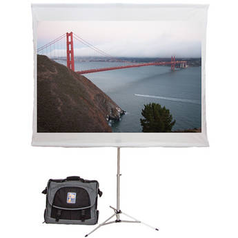 """Screen2Go S2G-020 75"""" Portable Projection Screen with Briefcase"""