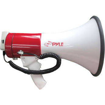 Pyle Pro PMP57LIA 50W Megaphone with Siren, MP3 Player, and Remote Microphone