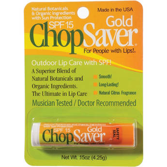 ChopSaver Gold with SPF Lip Balm for Musicians