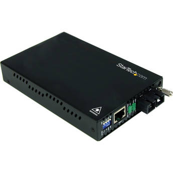 StarTech ET90110SC2 10/100 Mb/s Multi Mode Fiber Media Converter SC 2km (Black)