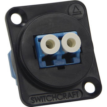 Switchcraft EH Series LC Fiber Optic Single-Mode Connector (Black)