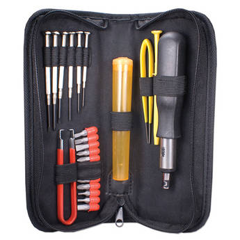 QVS 23-Piece Computer Maintenance Tool Kit with Precision Screwdrivers