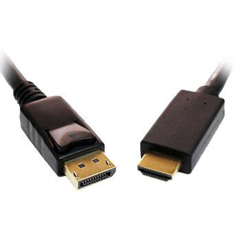 Tera Grand DisplayPort Male to HDMI Male Cable (6')
