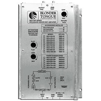 Blonder Tongue BIDA 550-50 Broadband Indoor Distribution Amplifier (50dB, 47-550 MHz)