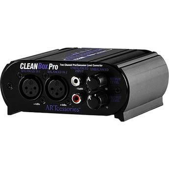ART CLEANBOX Bi-Directional Level Matching Stereo Converter Box - XLR and RCA I/O Connectors
