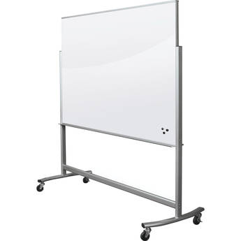 Balt Visionary Move Mobile Magnetic Glass Whiteboard (6 x 4', White)
