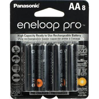 Panasonic eneloop pro AA Rechargeable NiMH Batteries (1.2V, 2550mAh, 8-Pack)