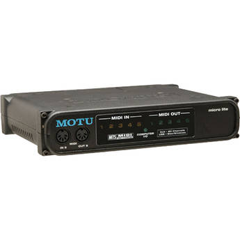 MOTU micro lite - 5 Input / 5 Output USB MIDI Interface for Mac and PC