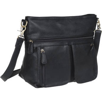 Jo Totes Allison Camera Bag with Dual Front Pouches (Black)