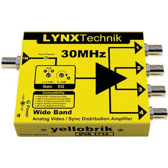 Lynx Technik AG yellobrik Wide Band 1 to 4 Analog Video/Sync Distribution Amplifier