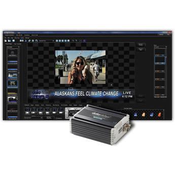 Datavideo CG-300TC Kit with CG-300 Character Generator Software and TC-200 Overlay Box Character Generator Kit