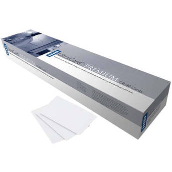Fargo CR-79 Adhesive Paper-Backed UltraCard PVC Cards (500 Cards)