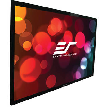 """Elite Screens ER150WH2 SableFrame 2 73.6 x 130.7"""" Fixed Frame Projection Screen"""