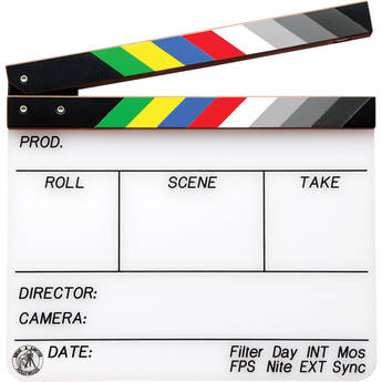"""Birns & Sawyer 11"""" Professional Acrylic Production Slate with Color Clapper Sticks"""