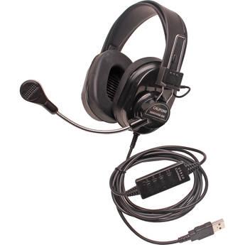 Califone 3066USB-BK Deluxe Multimedia Stereo Headset (USB, Black)