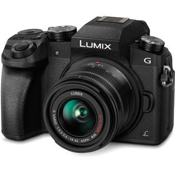 Panasonic Lumix DMC-G7 Mirrorless Micro Four Thirds Digital Camera with 14-42mm Lens (Black)