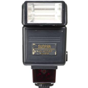 Sunpak Auto 433 AF TTL Shoe Mount Flash (Guide No. 120'/37 m at 35mm) for Canon EOS (Film Cameras)