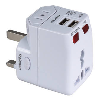 QVS Premium World Power Travel Adapter Kit (White)