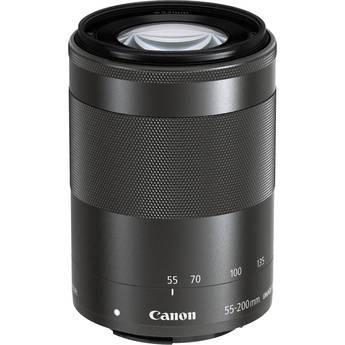 Canon EF-M 55-200mm f/4.5-6.3 IS STM Lens (Black)