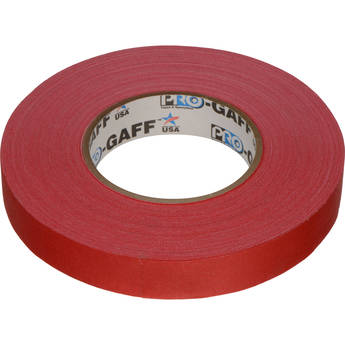 """Visual Departures Gaffer Tape - 1"""" x 55 Yards (Red)"""
