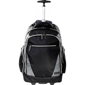 """ECO STYLE Sports Voyage Rolling Backpack for Laptop up to 17.3"""" (Black & Platinum)"""