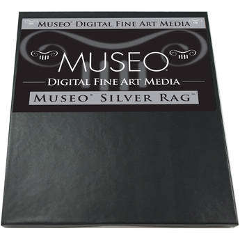 """Museo Silver Rag Paper for Inkjet - 17x22"""" (C) - 25 Sheets"""