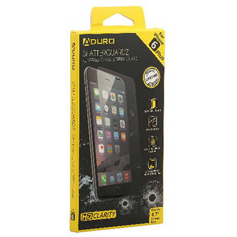 promo code 8950e 1a981 Aduro SHATTERGUARDZ Tempered Glass Screen Protector for iPhone 6 Plus/6s  Plus