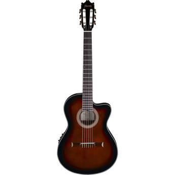 Ibanez GA35TCE Acoustic/Electric Thin-Line Classical Guitar (Dark Violin Sunburst)