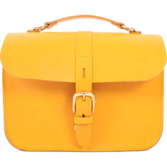 Figbags The Lincoln Leather Bag (Yellow)
