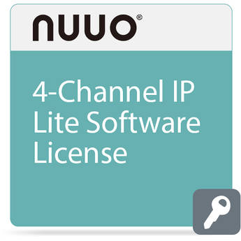 NUUO 4-Channel License for IP Lite Software