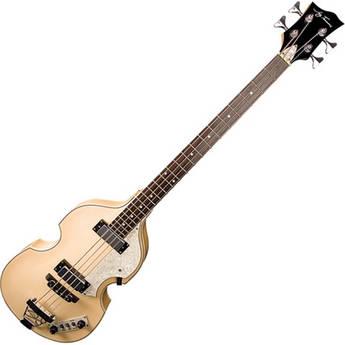 Jay Turser JTB-2B Semi-Hollow Body Electric Bass Guitar (Natural)