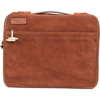 "TaboLap Workstation Laptop Case for up to 13"" Device (Suede Leather, Saddle Brown)"