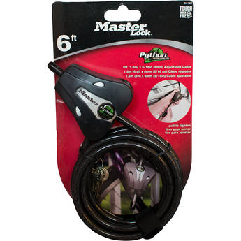 """Covert Scouting Cameras Master Lock Python Trail Camera Security Cable (Black, 5/16"""")"""